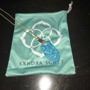Kendra Scott Adjustable Turquoise Necklace